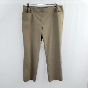 Lane Bryant Stretchy Dress Pant Plus Size 22 Tan